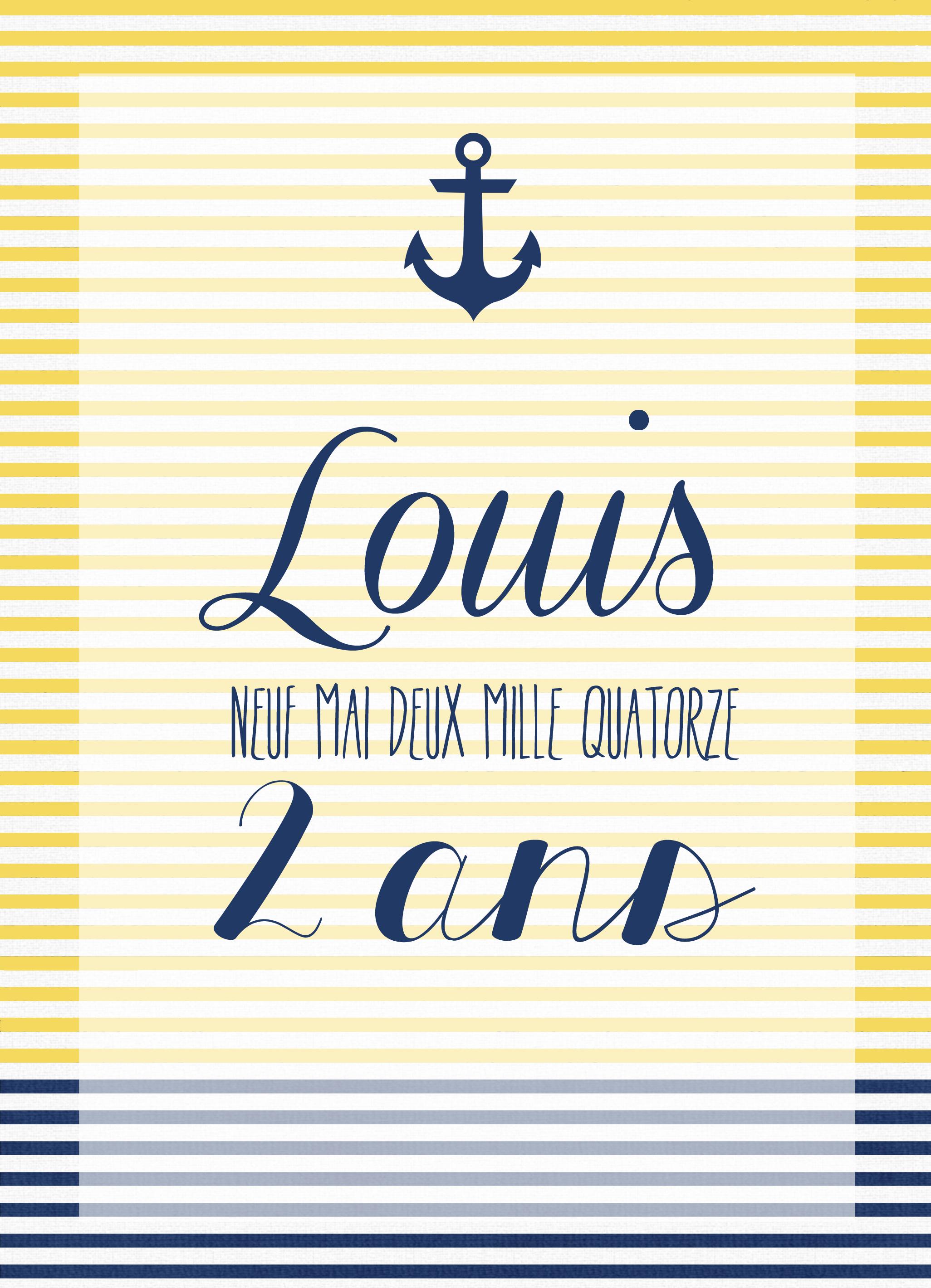 La préparation des 2 ans de Louis – part 1