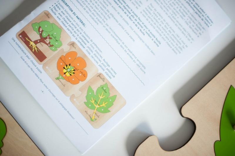 puzzles botanique natures découvertes montessori
