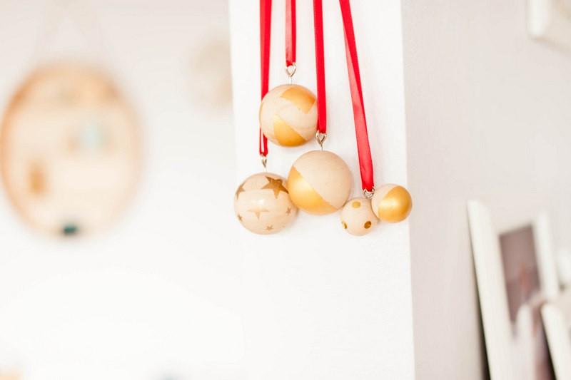 odrai, boules de noel, DIY, stickers, doré, décoration de Noël