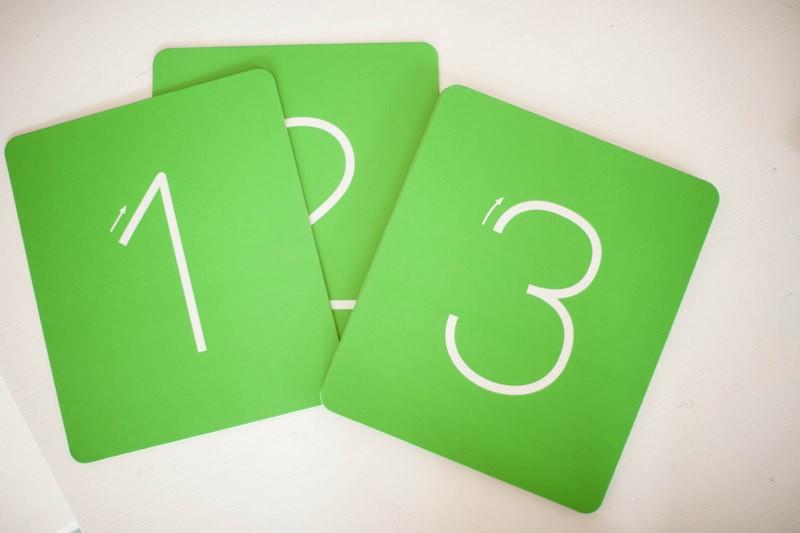 chiffres, montessori, rugueux