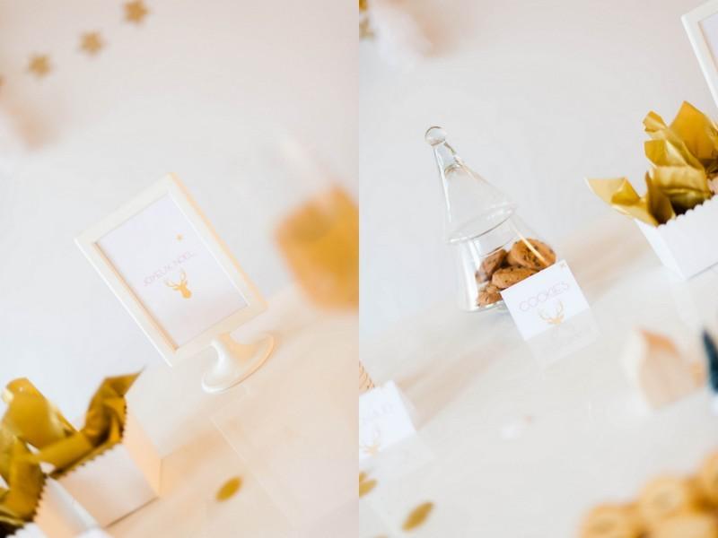 sweettable, Noël,ë doré, blanc, cuivre, pluie de confettis, odraileblog
