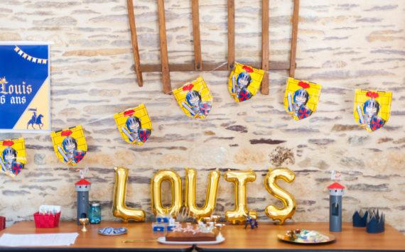 L'anniversaire chevalier de Louis et ses amis