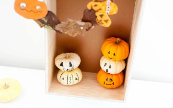 DIY d'une couronne de citrouilles – activités enfants sur le thème de l'automne