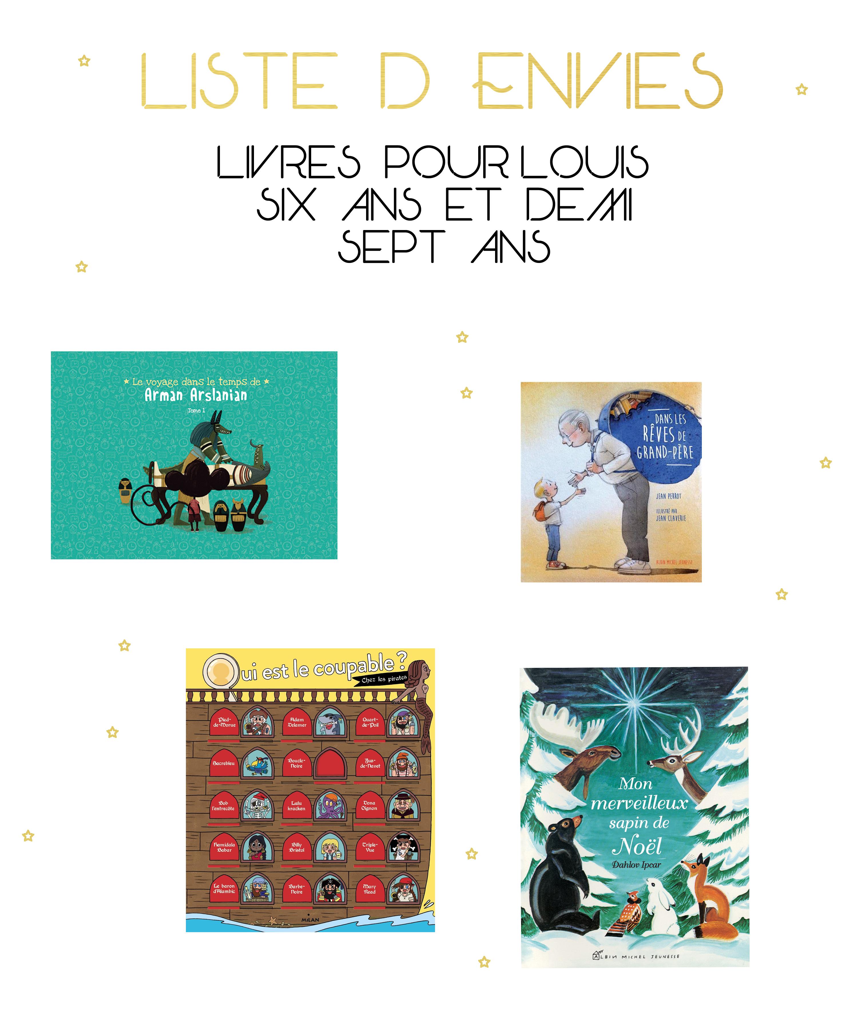 Livres enfants – ma liste d'envies pour le Noël 2018 de Louis