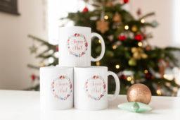 Des mugs personnalisés pour Noël !