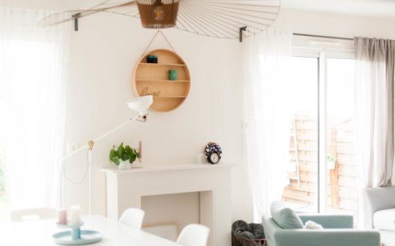 La transition entre notre cuisine et notre salon