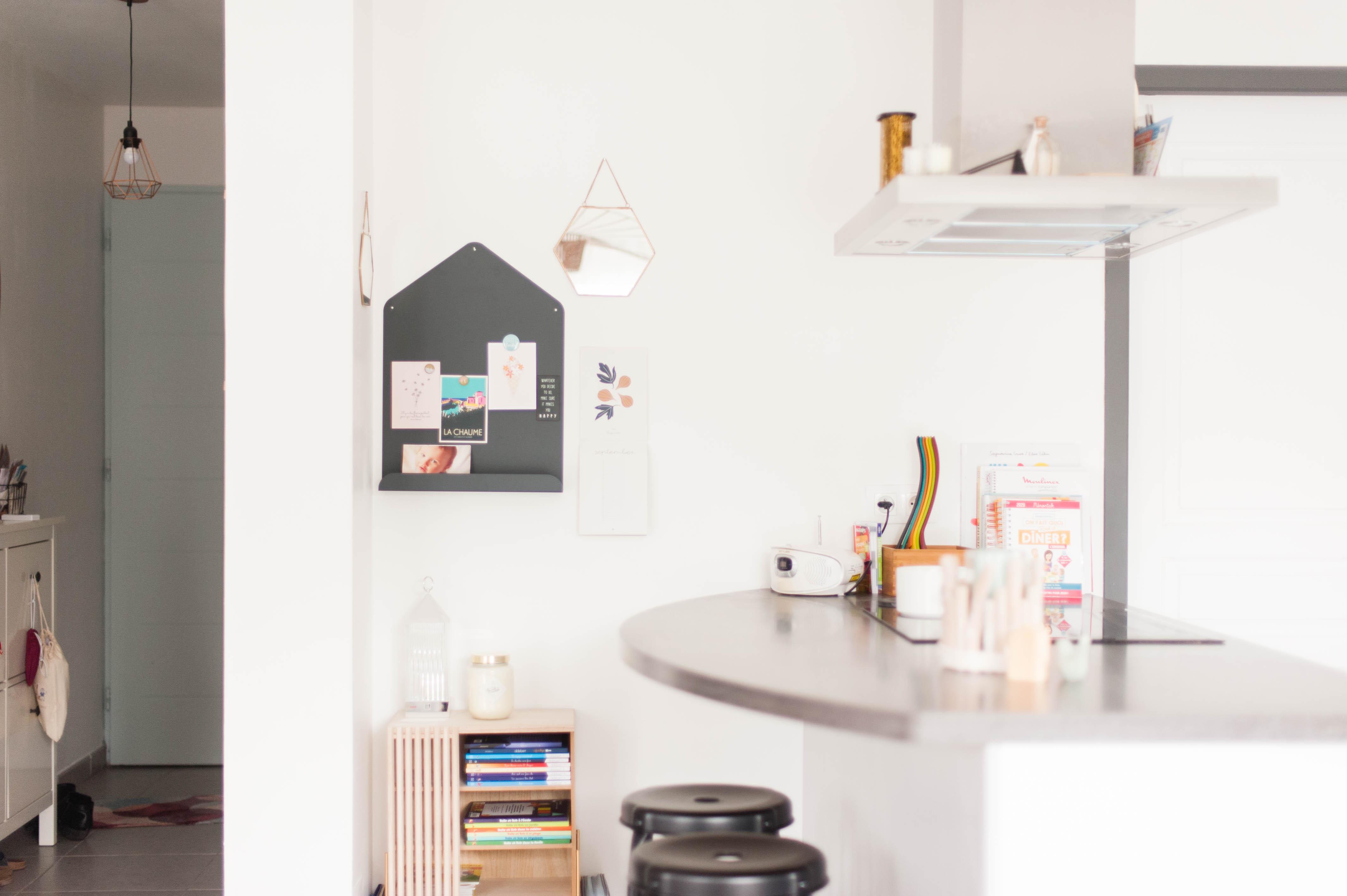 Cuisine Séparée Du Salon la transition entre notre cuisine et notre salon - odrai et