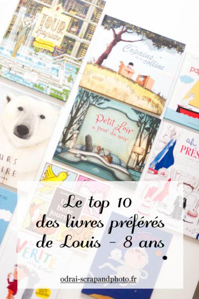 top 10 des livres préférés de Louis (8 ans)
